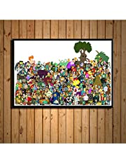 Futurama Cartoon Bender John Zoidberg Funny Classic Cartoon Art Painting Silk Canvas Poster Wall Home Decor 40 * 60Cm No Frame