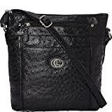 Aurielle-Carryland Ostrich Crossbody (Black)