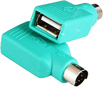 Adaptador PS/2, PS2 macho a USB hembra, adaptador convertidor para teclado y ratón, 2 unidades (Nota: no puede coincidir con todas las placas de madre): Amazon.es: Electrónica