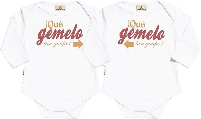 estuche de presentaci/ón regalo para gemelos beb/é SR He Did It /& She Did It body gemelos beb/é ropa para gemelos beb/é