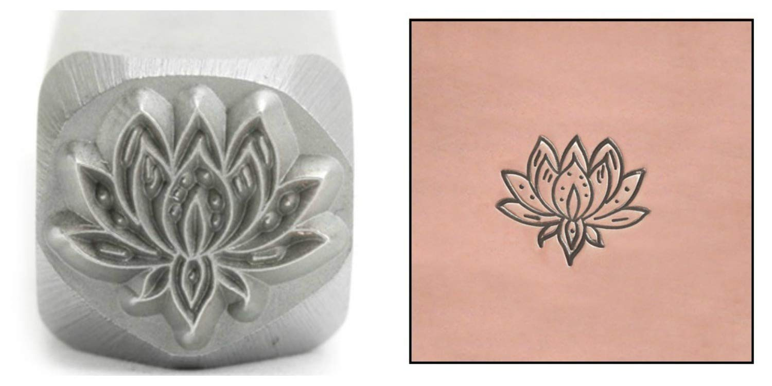 Amazoncom Lotus Flower Metal Design Stamp 8mm Pond Flower