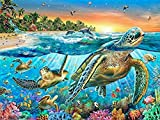 Wotion 15.75''x11.81'' Sea Turtles Full Drill All Square DIY 5D Diamond Painting Kit with Carton Package for Adults Rhinestone Embroidery Cross Stitch Set Arts Craft Gift