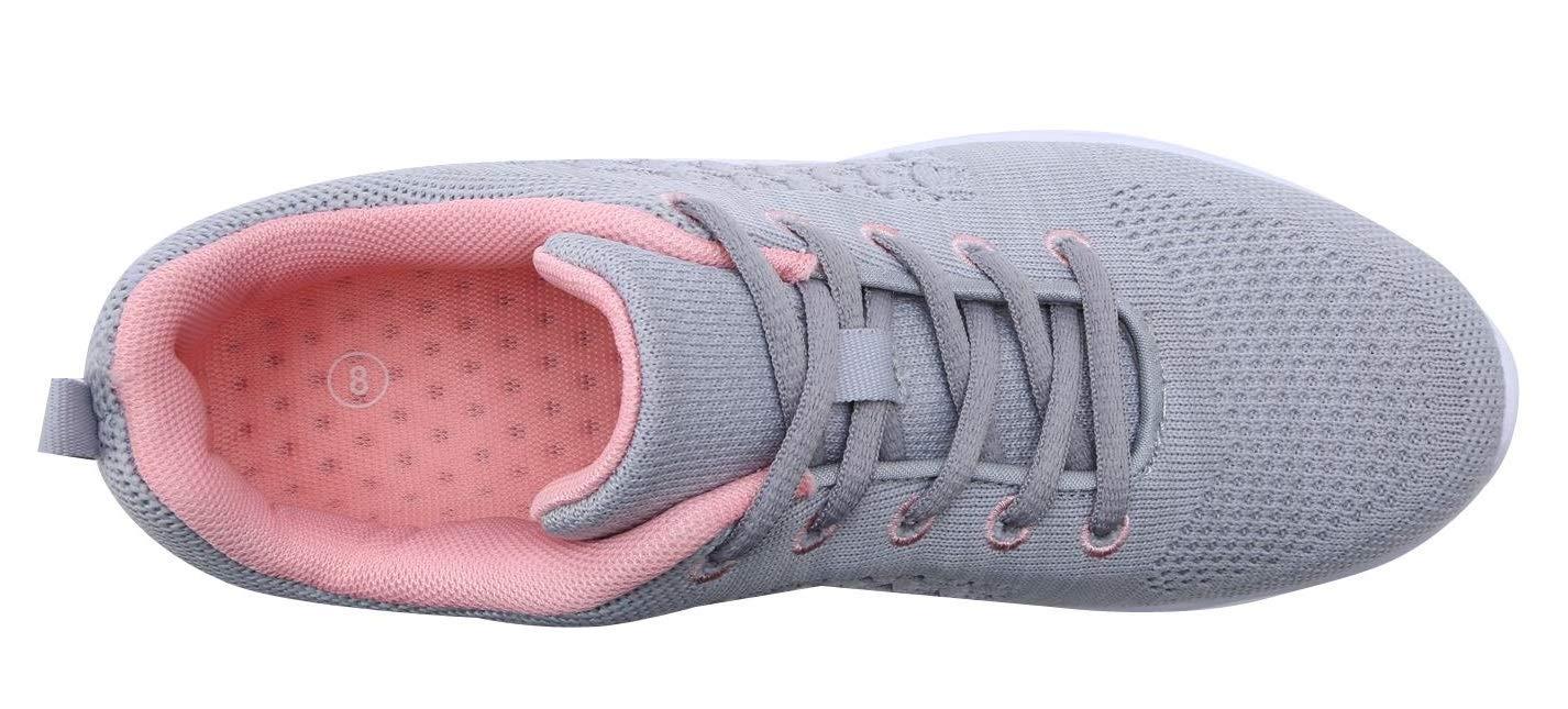 YILAN Girl's & Women's Fashion Sneakers Casual Sport Shoes (9 B(M) US, New Grey-5)