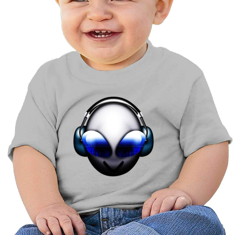 Alien with Headphones Baby Boys Cool Summer Shirt Sleeve Short
