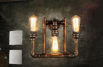 Zhas Retro Wandleuchte Light Bar Wohnzimmer Kunst Beleuchtung