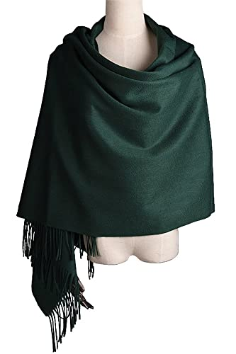 "Women Soft Cashmere Wool Wraps Shawls Stole Scarf - Large Size 78""x 28"""
