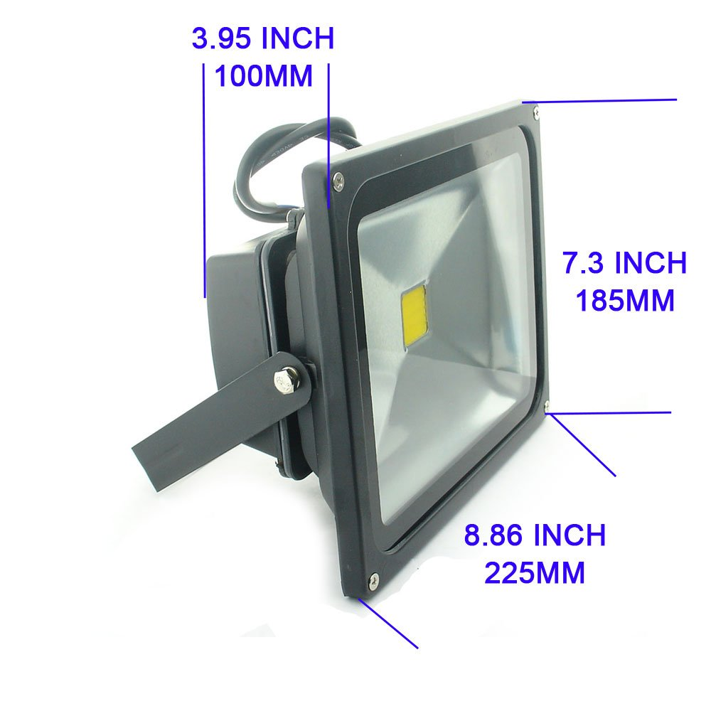 QUANS 30W Watt Warm White 12V 24V AC DC Ultra Bright LED Security Wash Flood Light Floodlight Lamp High Power Black Case Waterproof IP65 Work in The Rain Superbright 3000K, 12-24V Input Low Voltage by QUANS (Image #4)