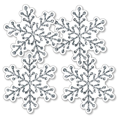 Winter Wonderland - Snowflake Decorations DIY Snowflake Holiday Party & Winter Wedding Essentials - Set of (Winter Wonderland Prom Decorations)