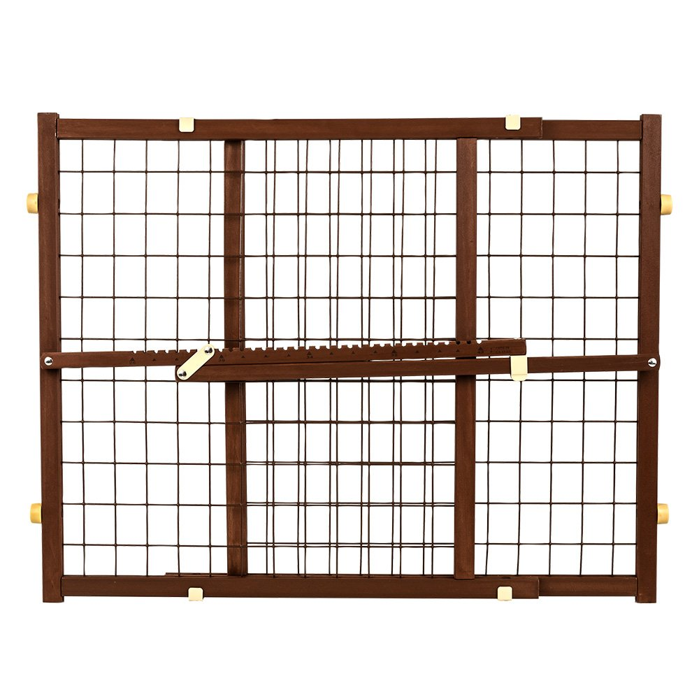 Evenflo ASPCA Wired Position and Lock Gate, Colonial Maple, Standard