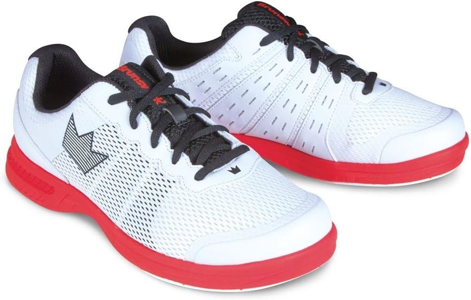 (Size 7, 白い/赤) - Brunswick Mens Fuze Bowling Shoes- 白い/赤