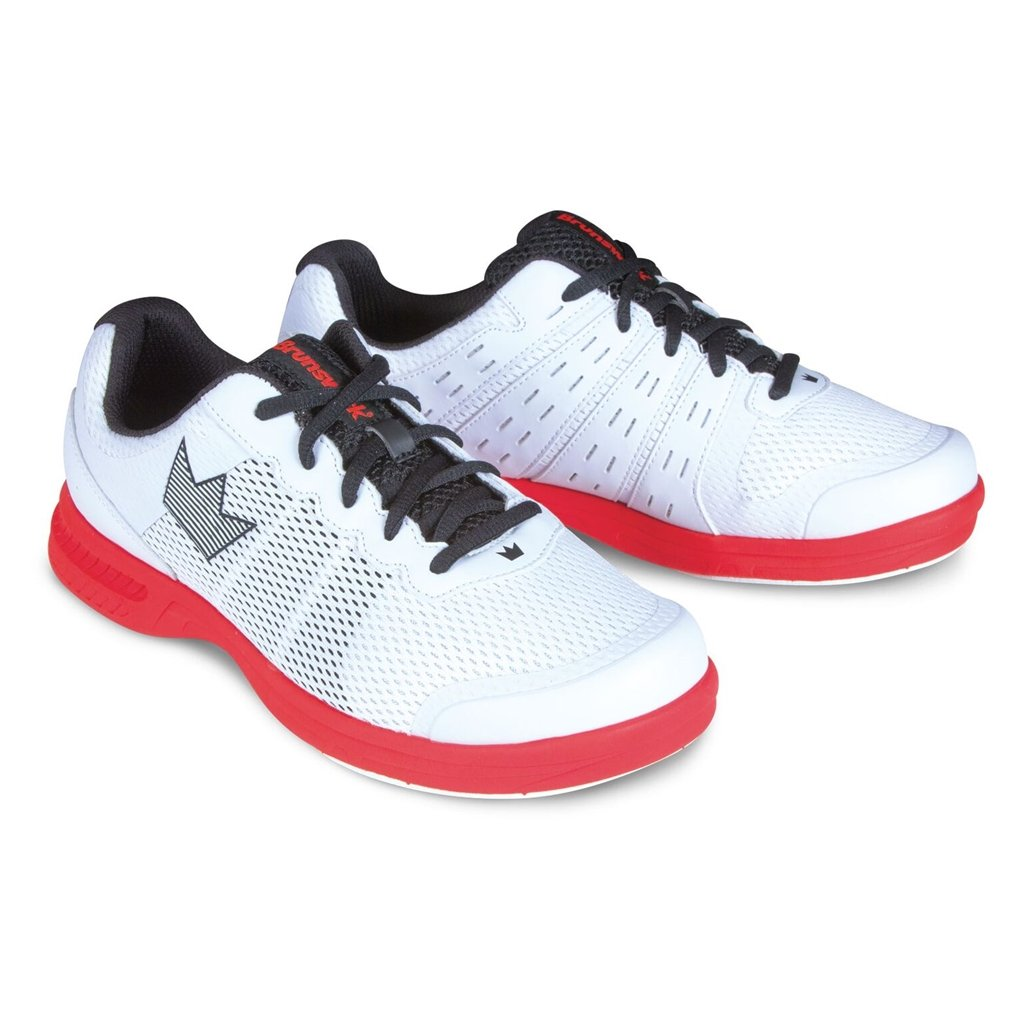 Brunswick Mens Fuze Bowling Shoes- White/Red White/Red