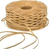 EOOUT 459Yard Kraft Raffia Paper Ribbon Packing Paper Twine for Gift Wrap and Decoration