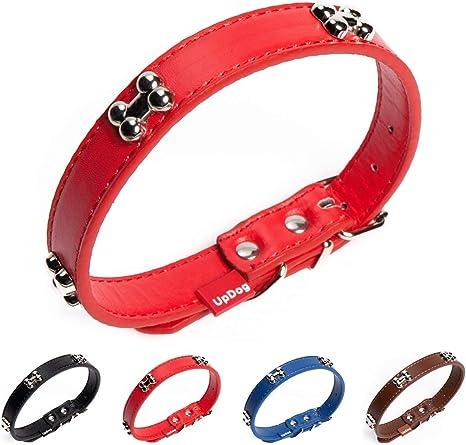 UPDOG Collar para Perro de Cuero Sint/ético Diferentes tama/ños para Todas Las Razas de Perros