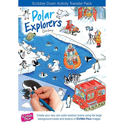 Scribble down 47122 - Décalcomanie et décor - Explorateur polaire