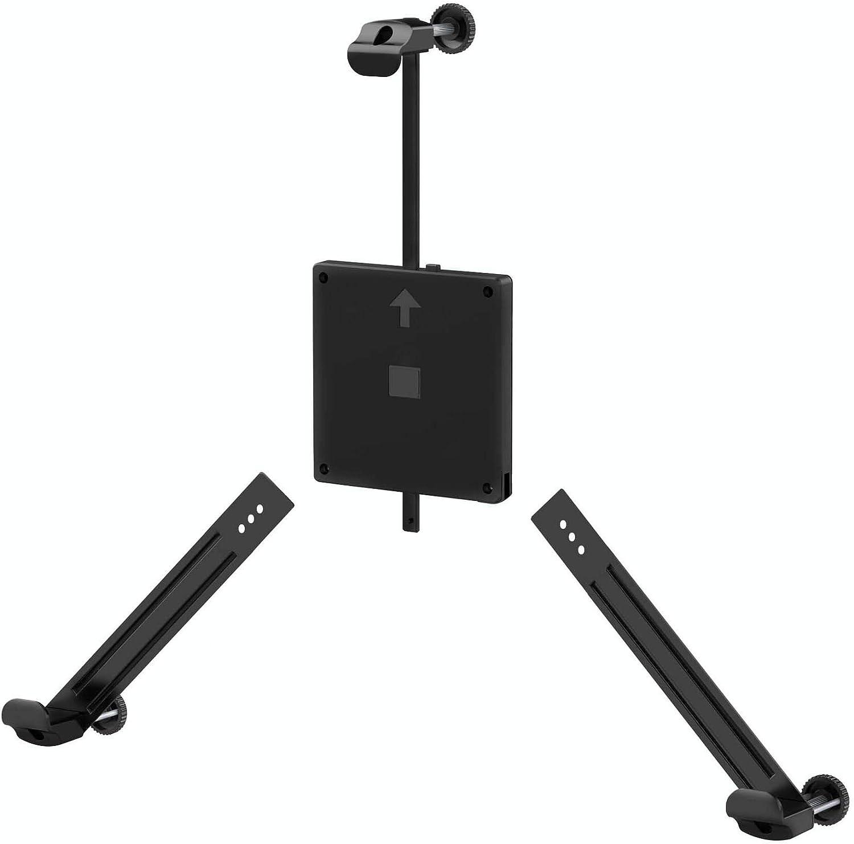 Bemorergo Universal Non-VESA Mount Adapter Kit Non-VESA Monitor Converter Mounting Screens Arm, VESA Mount Bracket Adapter Fits Most 17-27 Inch Screen VESA 100x100, Quick Installation(Black)