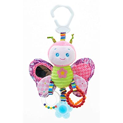 RichChoice Butterfly Baby Hanging Toys:1-3-6-9 Month,1-2-3 Years Old Toy for Stroller,Car Seat,Crib; Butterfly Toy for Newborn,Infant, Toddler,Kids with Crinkle,Rattle,Teether,Squeaker,Mirror: Toys & Games