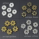 HYBEADS 200PCS 6mm mixed Tibetan antique daisy spacer beads