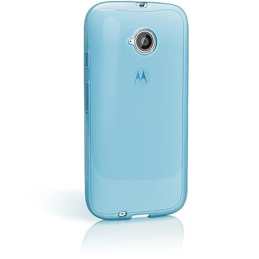 105 opinioni per igadgitz Trasparente Blu Lucido Protettiva Custodia Gel TPU per Motorola Moto E