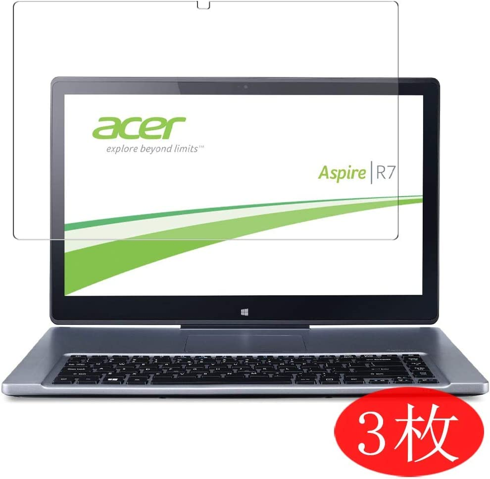 """【3 Pack】 Synvy Screen Protector for Acer Aspire R7-572 / R7-572G 15.6"""" TPU Flexible HD Film Protective Protectors [Not Tempered Glass]"""