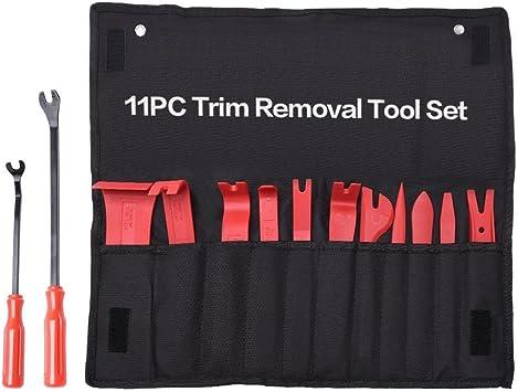 1 set di 13 pezzi Pannello porta universale per auto Clip per cruscotto Trim Pinze Kit di attrezzi per la rimozione del fissaggio. Strumento per la rimozione dei trim