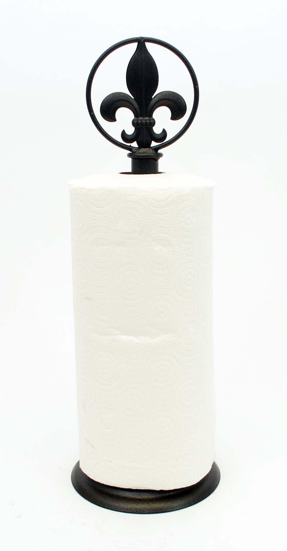 Fleur De Lis Paper Towel Holder-17h