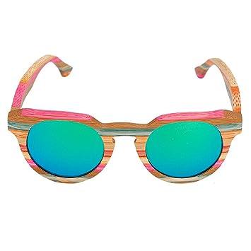 Gafas De Sol Polarizadas De Madera De Color De Vidrio Pintado De Madera A Mano Pura