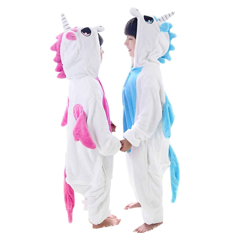 Boys Girls Unicorn Costumes Pajamas Kids Onesie Children One-Piece Jumpsuit Sleepsuits