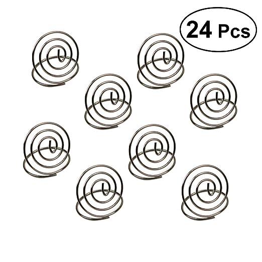 BESTONZON 24pcs Porte-numéros de Mesa Tarjetero de Boda portafotos ...