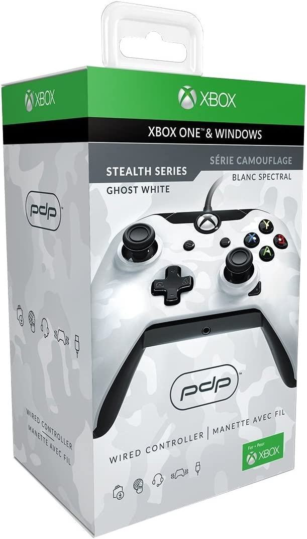 Amazon.com: PDP Wired Controller for Xbox One - White Camo - Xbox ...