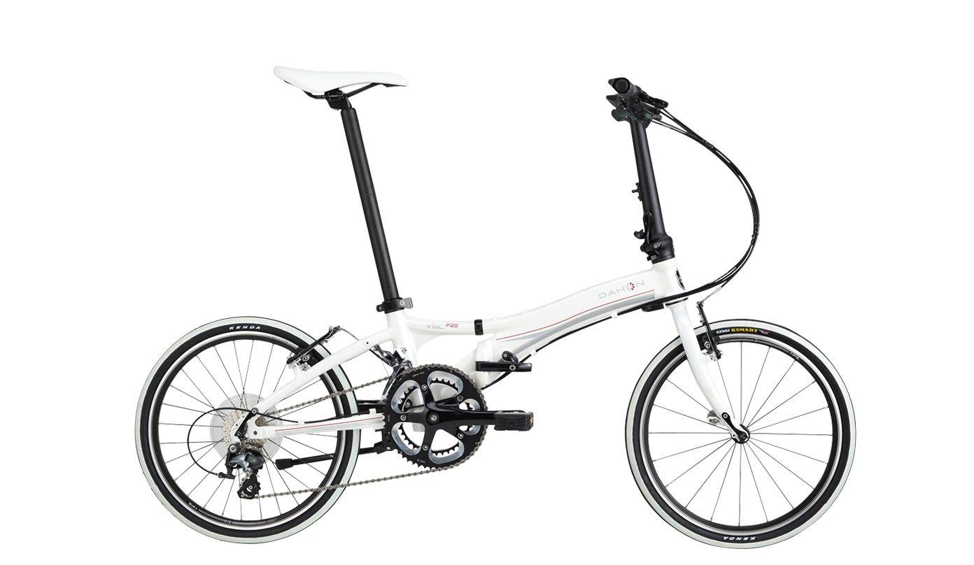 ダホン 2016 VISC P20(ビスクP20) 折りたたみ自転車 20(142~193cm) アイスホワイト B079GW2XQJ