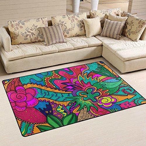 LORVIES Hippie Drawing Likes As Stoner Art Area Rug Carpet Non-Slip Floor Mat Doormats for Living Room Bedroom 31 x 20 (Stoner Carpet)