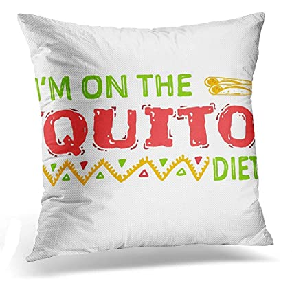 Amazon Com Throw Pillow Cover Meme Mexican Quito Keto Diet Funny