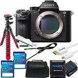 Sony Alpha a7R II Mirrorless Digital Camera (Body Only) + 2X 32GB SD Card + SD Card Reader + SD Card Wallet + HDMI + Case + Flexible Tripod + Cloth