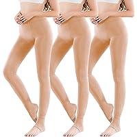Vertvie 1/3/5-pack dames thermische panty leggings met binnenfleece voor herfst winter Super stretch warme…