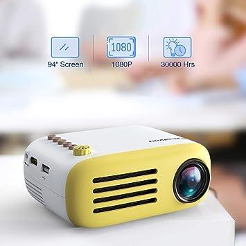 PAN-EX YG200 Portátil LED Proyector de Bolsillo Mini AV USB ...