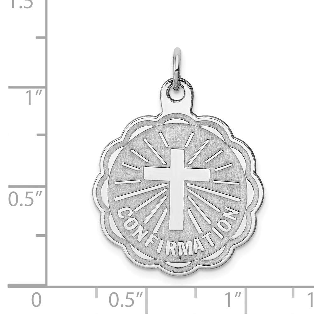 925 Sterling SilverMy Confirmation Disc Charm and Pendant