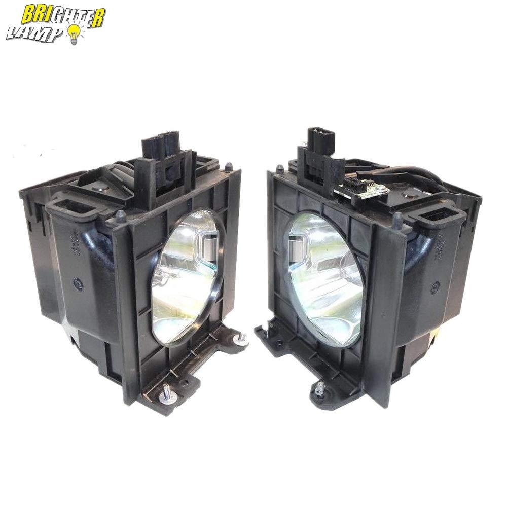 Brighter Lamp ET-LAD55W (2灯セット) プロジェクター交換用ランプ【ハウジング付き/高輝度/長寿命】プロジェクターランプ for Panasonicパナソニック  ET-LAD55W B075K8RJFF
