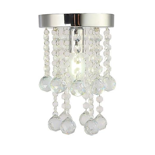 Yinmake Lámpara de araña de cristal encantador mini lámpara ...