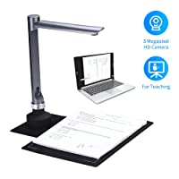 Aibecy F60A Document Camera Scanner 5 Mega-Pixel HD Camera A4 Capture Size with LED Light Teaching Software(it Isn't Suitable for iOS)