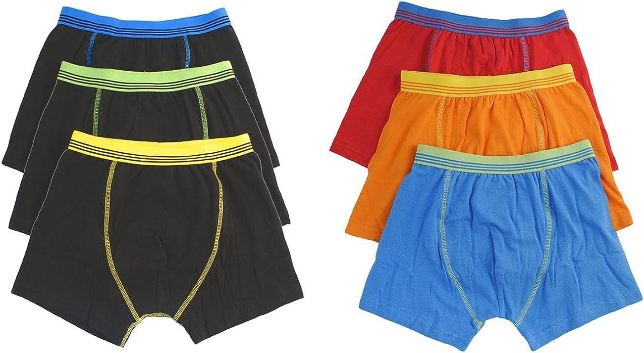 Hari Deals Los niños los niños Ropa Interior Boxers Troncos Pantalones Cortos Pantalones (6 Unidades, 2 – 13 años: Amazon.es: Ropa y accesorios