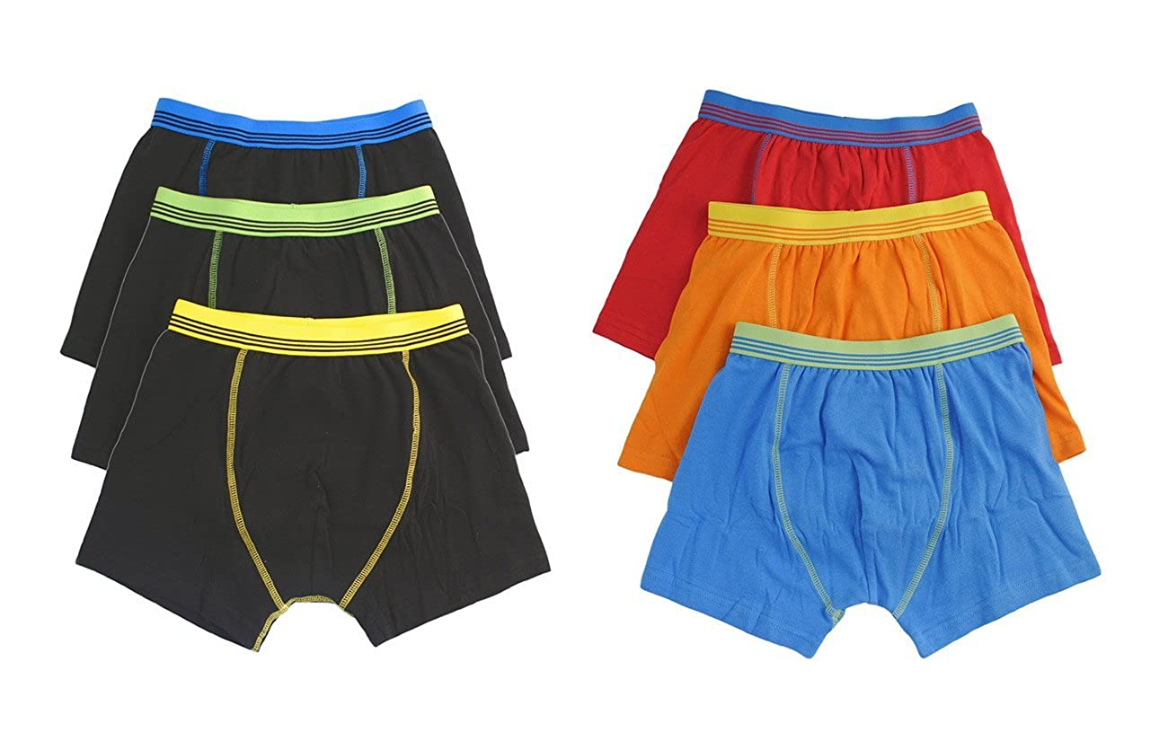 Hari Deals Boys Children Boxers Trunks Underwear Shorts Pants 6 Pack 2-13 Years