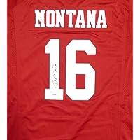 $289 » SAN FRANCISCO 49ERS JOE MONTANA AUTOGRAPHED RED NIKE JERSEY SIZE XXL PSA/DNA STOCK #113640