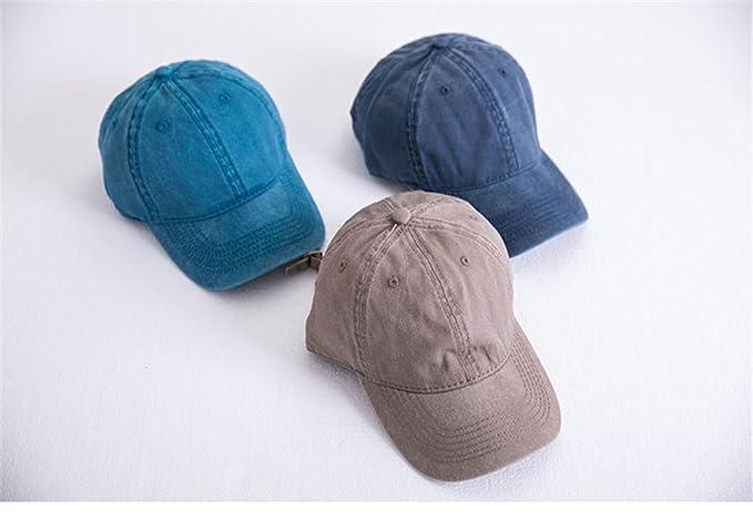 Drawihi Sombrero hembra de primavera y verano para hacer el viejo retro  curvado casquillo del casquillo de la luz de color sólido gorra de béisbol  casquillo ... 84484d18a47