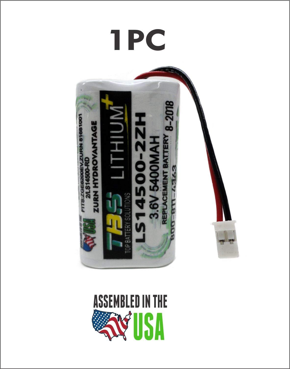 Zurn HydroVantage ZGEN6200EV Battery - LS14500-2ZH / 81681001/2/LS14500-RD REPLACEMENT BATTERY