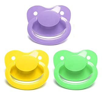 0m+ Blue Dr 3 Pack Browns One Piece Silicone Pacifier