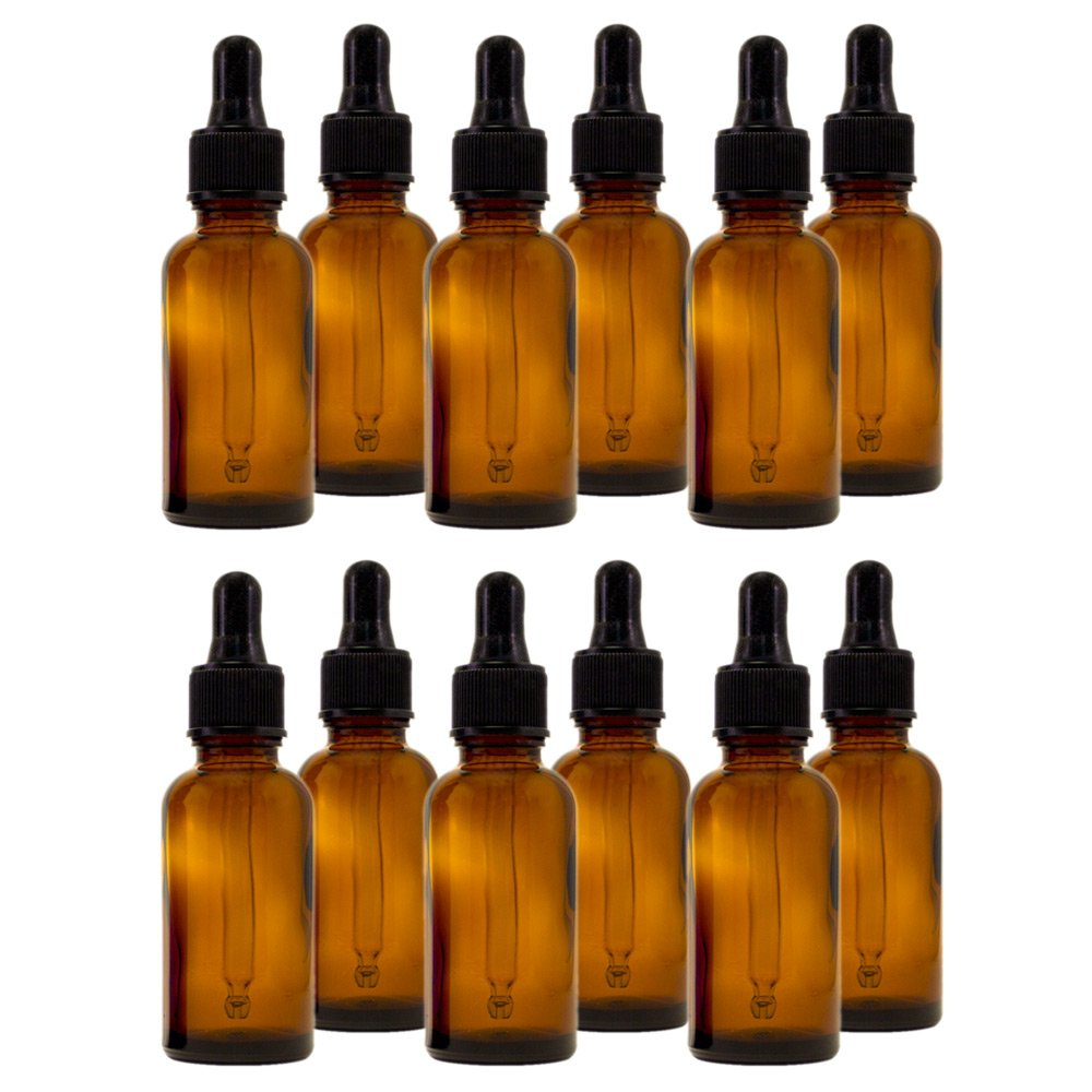3e99afab47dd GreenHealth - Amber Glass Bottle 1oz(30ml) with Special Dropper top (1  Dozen)