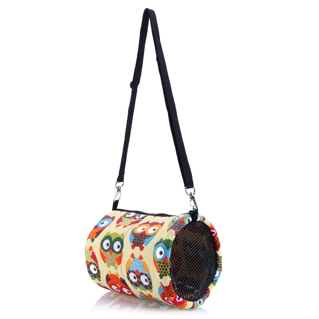 KINTOR Hamster Carrier Bag Small Animal- Portable Breathable Outgoing Bag for Guinea Pig Hedgehog Squirrel Chinchilla mice Rats Sugar Glider Ferret (M-7.5x5.5inch, Multi-colored)