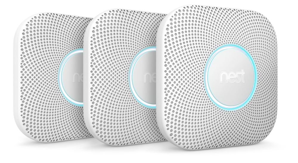 Nest Protect Smoke & Carbon Monoxide Alarm, Battery (2nd Generation), 3 Pack