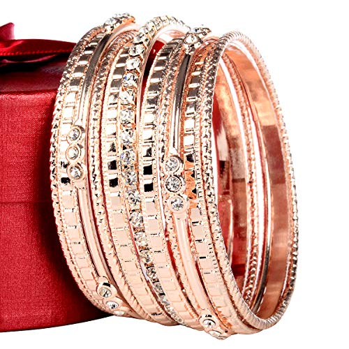 (Womens Stainless Steel high Polished 13- Pieces Stackable Bangle Bracelet (Rose Gold))