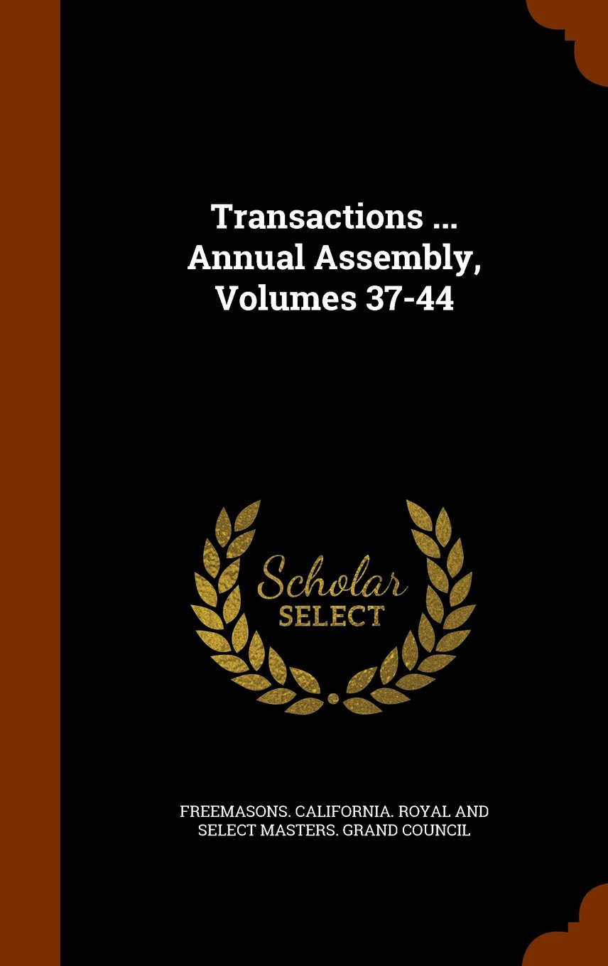 Download Transactions ... Annual Assembly, Volumes 37-44 pdf epub